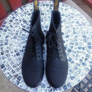 DR. MARTENS DOC COMBS Black Nylon Boots, 13M
